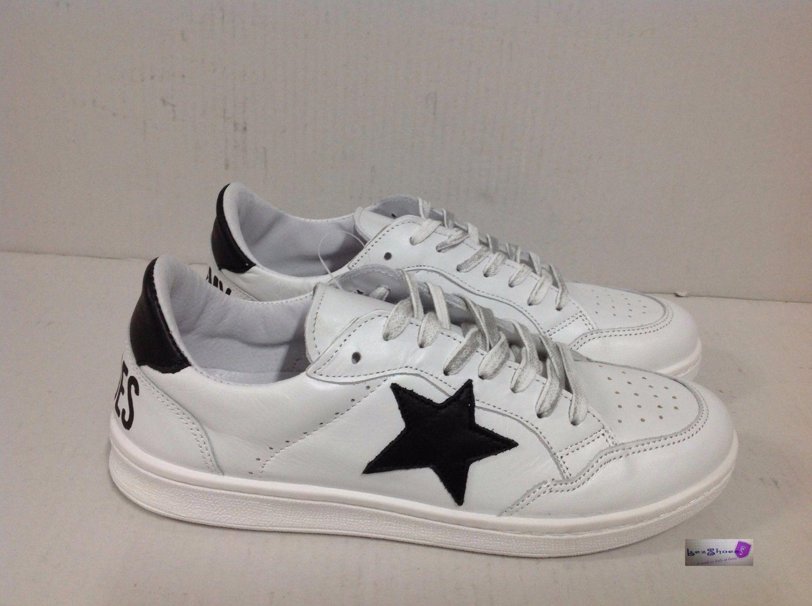 Uomo Basse Nera Sneakers Scarpe Old Ebay Stella Bianca Gold Pelle 9WE2DIH
