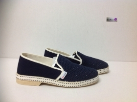Espadrillas slipon uomo in tela blu